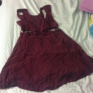 Burgundy night on the town dress